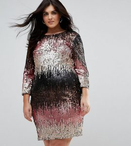 Extra Large Sequin Bodycon Dress