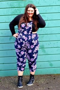 Floral Printed Dungarees
