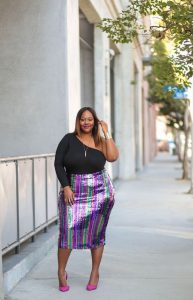 Glittered Plus Size Skirts