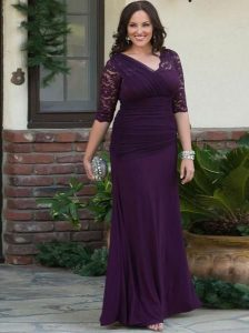 Lace Dress With Sleeves Plus Size