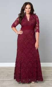 Maxi Lace Dress In Plus Size