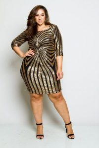 Nightclub Dress In Plus Size