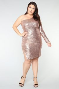 Over Sized Gold Sequin Dress