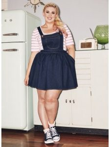 Plus Size Dungarees Dress