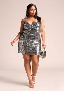 Plus Size Sequin Dress