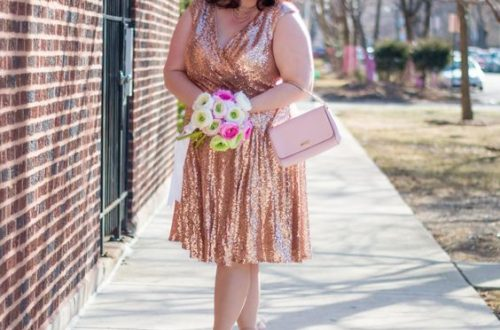 Plus Size Sequin Dress Cocktail