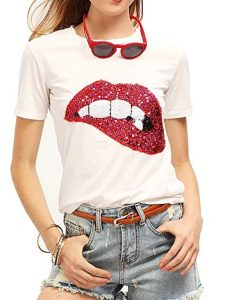 Plus Size Sequined Tshirt