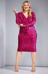 Plus Size Sparkly Cocktail Dress