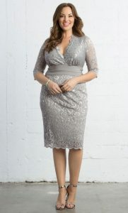 Plus Sized Lace Dress With Sleeves