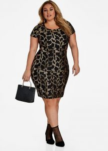 Plus Sized Sequin Bodycon Dress