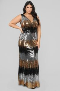 Plus Sized Sequin Dress Cocktail