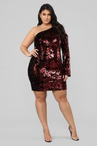 Red Sequin Dress Plus Size