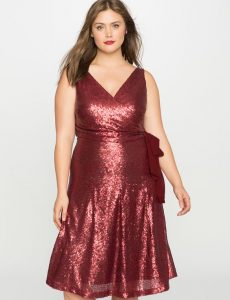 Red Sequinned Cocktail Dress