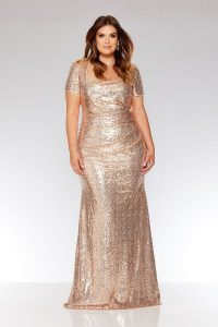 Rose Gold Party Dress For Women