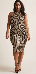 Sequin Dress Cocktail Plus Size
