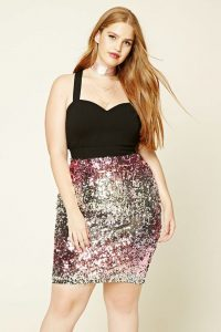 Sequin Skirt Plus Size
