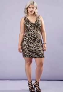 Sequined Bodycon Dress for Curvy