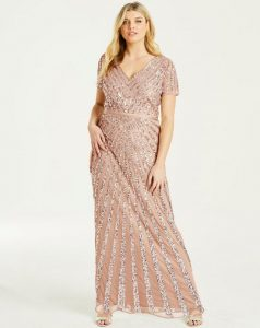 Sequinned Maxi Dress For Plus Size