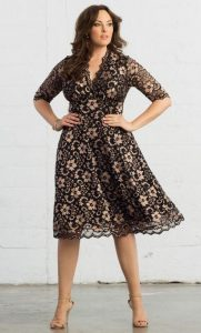 Women's Lace Dress With Sleeves