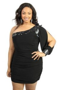 Black Club Dresses for Plus Size Women