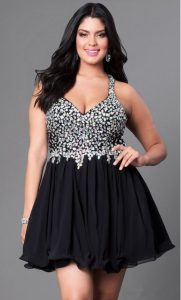 Black Homecoming Dresses Plus Size