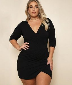 Black Sheath Dresses Plus Size