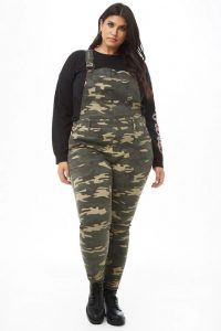 Camo Plus Size Dungarees for Women