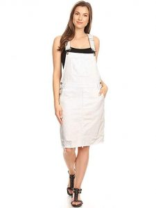 Cheap Plus Size Dungaree Dress