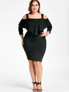 Cold Shoulder Sheath Dress