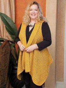 Crochet Vest For XL