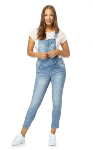 Women's Juniors Denim Overalls