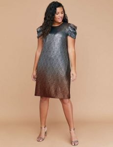 Extra Large Metallic Dress