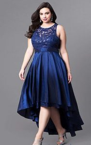 High Low Homecoming Dress Plus Size