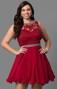 Homecoming Red Dress Plus Size