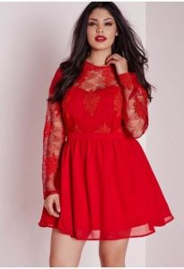 Long Sleeves Skater Dress