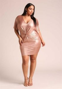 Metallic Dress Plus Size