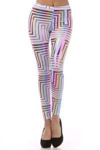 Metallic Leggings Plus Size