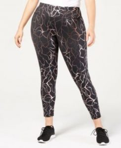 Metallic Print Leggings For XL