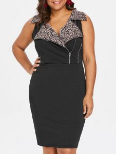 Over Sized Black Sheath Dress