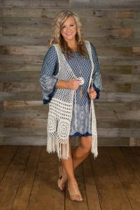 Over Sized Crochet Vest