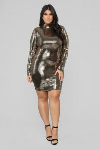 Over Sized Metallic Dress