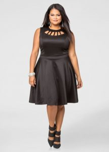 Plus Size Black Skater Dresses