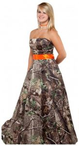 Plus Size Camo Prom Dress