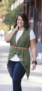 Plus Size Crochet Vest