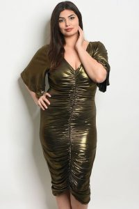 Plus Size Gold Metallic Dress