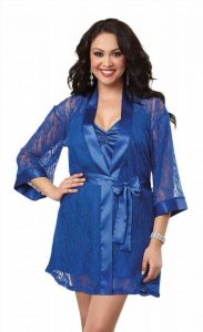 Plus Size Lace Robe For Women