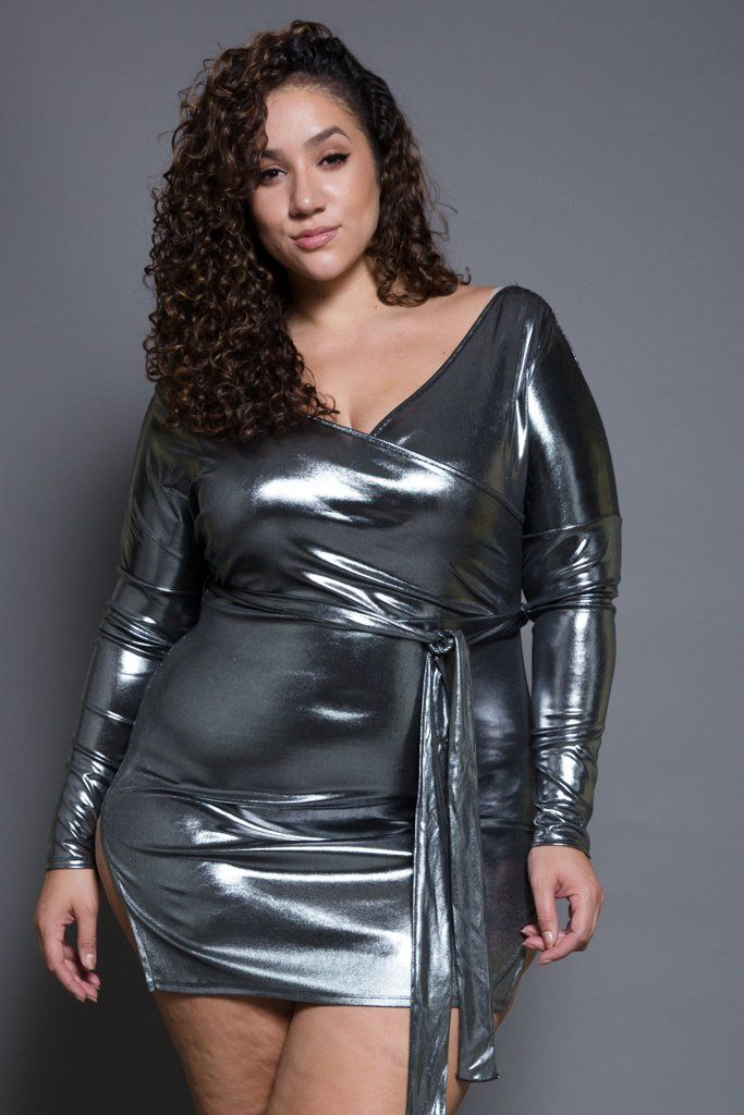 Plus Size Metallic Dresses