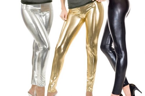 Plus Size Metallic Leggings