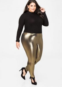 Plus Size Metallic Tights