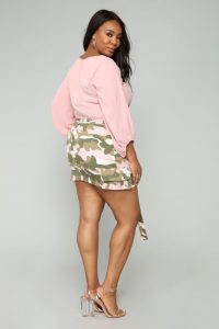 Plus Size Pink Camo Skirt